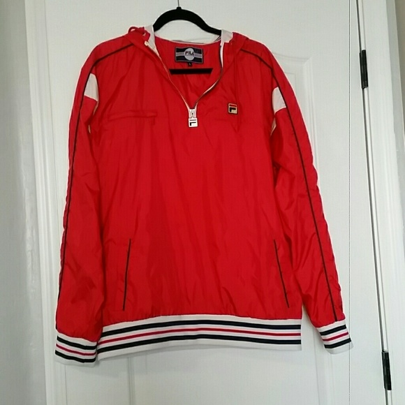3405c3aea04b6 Fila Jackets & Coats | Red Windbreaker Holdie Mens Large | Poshmark
